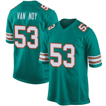 Youth Nike Miami Dolphins Kyle Van Noy Aqua Alternate Jersey - Game