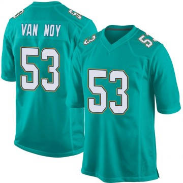 Youth Nike Miami Dolphins Kyle Van Noy Aqua Team Color Jersey - Game