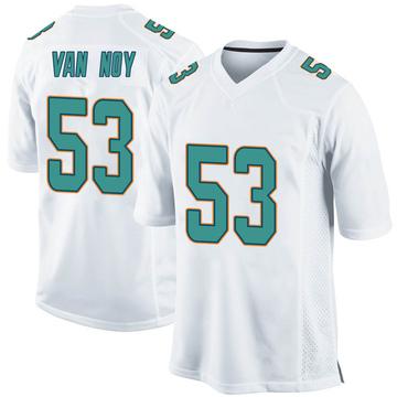 Youth Nike Miami Dolphins Kyle Van Noy White Jersey - Game
