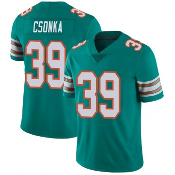 Youth Nike Miami Dolphins Larry Csonka Aqua Alternate Vapor Untouchable Jersey - Limited