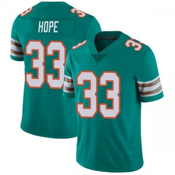 Youth Nike Miami Dolphins Larry Hope Aqua Alternate Vapor Untouchable Jersey - Limited