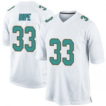 Youth Nike Miami Dolphins Larry Hope White Jersey - Game