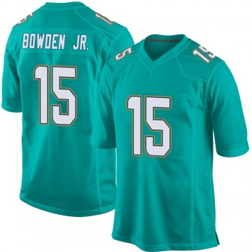 Youth Nike Miami Dolphins Lynn Bowden Jr. Aqua Team Color Jersey - Game