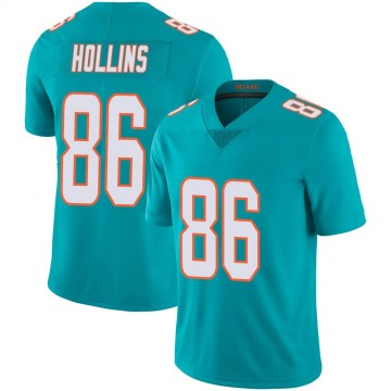 Youth Nike Miami Dolphins Mack Hollins Aqua Team Color 100th Vapor Untouchable Jersey - Limited
