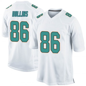 Youth Nike Miami Dolphins Mack Hollins White Jersey - Game