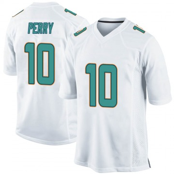 Youth Nike Miami Dolphins Malcolm Perry White Jersey - Game