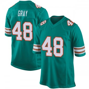 Youth Nike Miami Dolphins MarQueis Gray Gray Aqua Alternate Jersey - Game