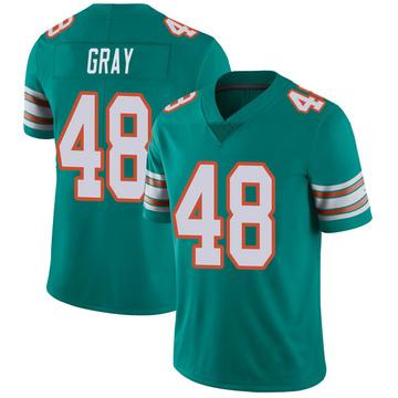Youth Nike Miami Dolphins MarQueis Gray Gray Aqua Alternate Vapor Untouchable Jersey - Limited