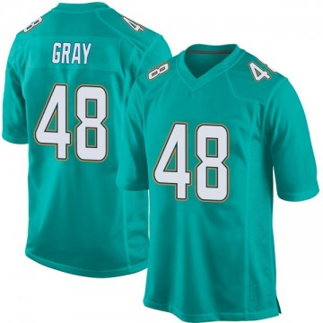 Youth Nike Miami Dolphins MarQueis Gray Gray Aqua Team Color Jersey - Game