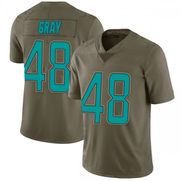 Youth Nike Miami Dolphins MarQueis Gray Green 2017 Salute to Service Jersey - Limited