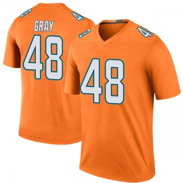Youth Nike Miami Dolphins MarQueis Gray Orange Color Rush Jersey - Legend
