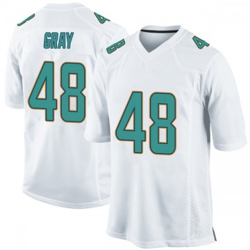 Youth Nike Miami Dolphins MarQueis Gray White Jersey - Game