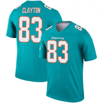 Youth Nike Miami Dolphins Mark Clayton Aqua Inverted Jersey - Legend