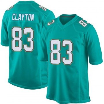 Youth Nike Miami Dolphins Mark Clayton Aqua Team Color Jersey - Game