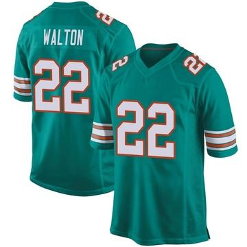 Youth Nike Miami Dolphins Mark Walton Aqua Alternate Jersey - Game