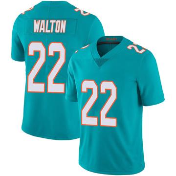 Youth Nike Miami Dolphins Mark Walton Aqua Team Color 100th Vapor Untouchable Jersey - Limited