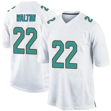 Youth Nike Miami Dolphins Mark Walton White Jersey - Game