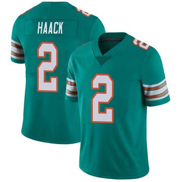 Youth Nike Miami Dolphins Matt Haack Aqua Alternate Vapor Untouchable Jersey - Limited