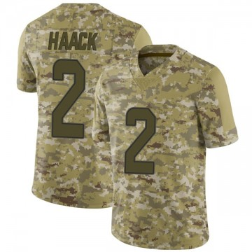 Youth Nike Miami Dolphins Matt Haack Camo 2018 Salute to Service Jersey - Limited