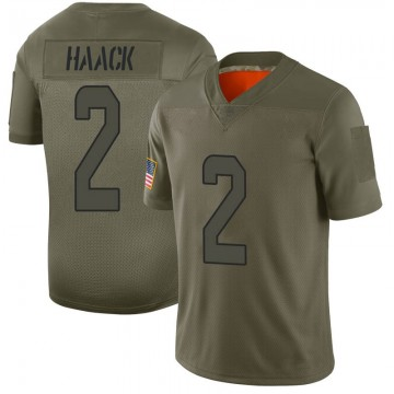 Youth Nike Miami Dolphins Matt Haack Camo 2019 Salute to Service Jersey - Limited