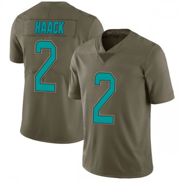 Youth Nike Miami Dolphins Matt Haack Green 2017 Salute to Service Jersey - Limited