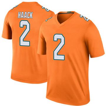 Youth Nike Miami Dolphins Matt Haack Orange Color Rush Jersey - Legend