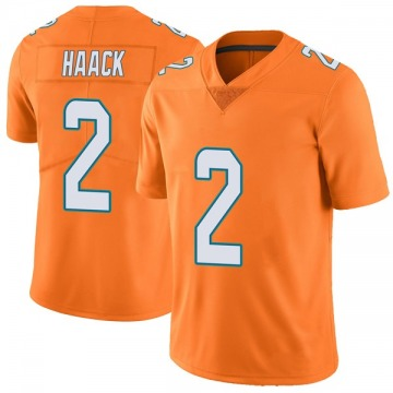 Youth Nike Miami Dolphins Matt Haack Orange Color Rush Jersey - Limited