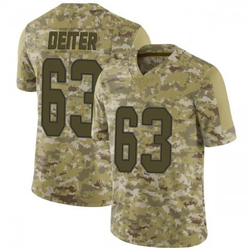 Youth Nike Miami Dolphins Michael Deiter Camo 2018 Salute to Service Jersey - Limited