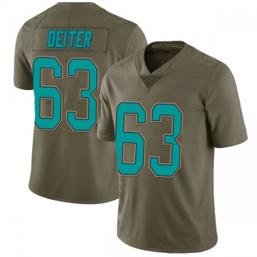 Youth Nike Miami Dolphins Michael Deiter Green 2017 Salute to Service Jersey - Limited