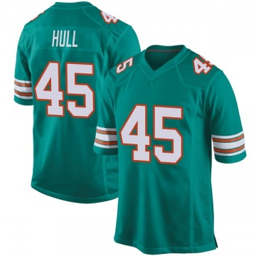 Youth Nike Miami Dolphins Mike Hull Aqua Alternate Jersey - Game