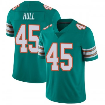 Youth Nike Miami Dolphins Mike Hull Aqua Alternate Vapor Untouchable Jersey - Limited