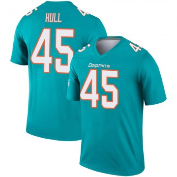 Youth Nike Miami Dolphins Mike Hull Aqua Inverted Jersey - Legend