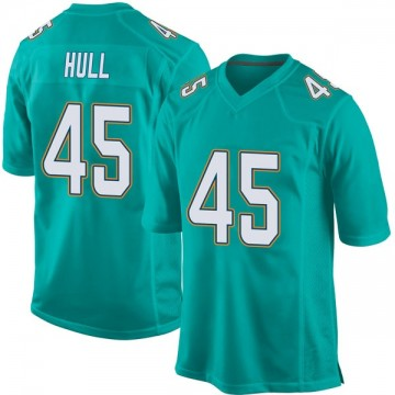 Youth Nike Miami Dolphins Mike Hull Aqua Team Color Jersey - Game
