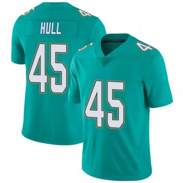 Youth Nike Miami Dolphins Mike Hull Aqua Team Color Vapor Untouchable Jersey - Limited