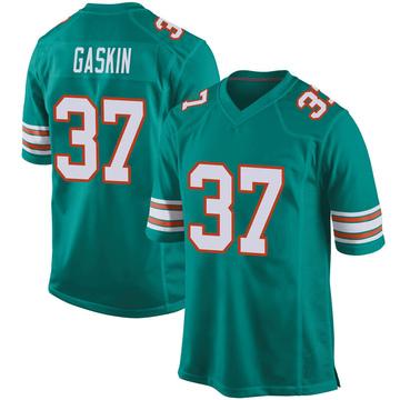 Youth Nike Miami Dolphins Myles Gaskin Aqua Alternate Jersey - Game