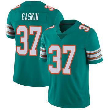 Youth Nike Miami Dolphins Myles Gaskin Aqua Alternate Vapor Untouchable Jersey - Limited