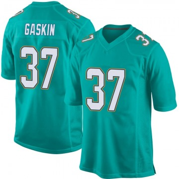 Youth Nike Miami Dolphins Myles Gaskin Aqua Team Color Jersey - Game