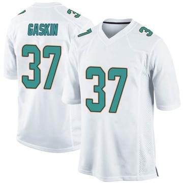 Youth Nike Miami Dolphins Myles Gaskin White Jersey - Game