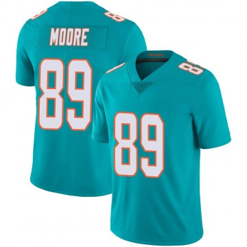Youth Nike Miami Dolphins Nat Moore Aqua Team Color 100th Vapor Untouchable Jersey - Limited