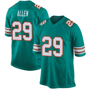 Youth Nike Miami Dolphins Nate Allen Aqua Alternate Jersey - Game