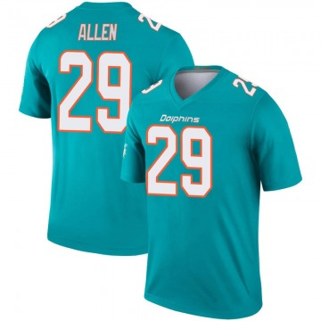 Youth Nike Miami Dolphins Nate Allen Aqua Inverted Jersey - Legend