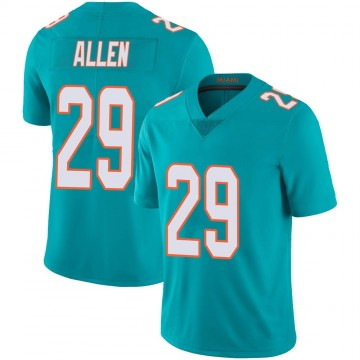 Youth Nike Miami Dolphins Nate Allen Aqua Team Color 100th Vapor Untouchable Jersey - Limited