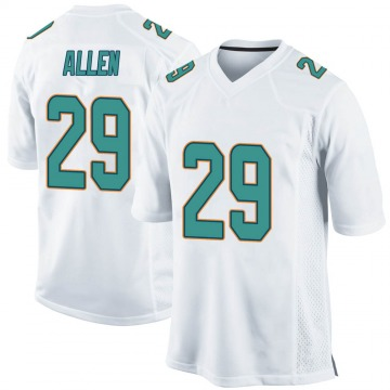 Youth Nike Miami Dolphins Nate Allen White Jersey - Game