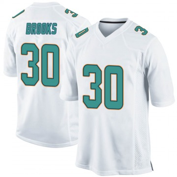 Youth Nike Miami Dolphins Nate Brooks White Jersey - Game
