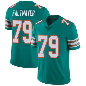 Youth Nike Miami Dolphins Nick Kaltmayer Aqua Alternate Vapor Untouchable Jersey - Limited