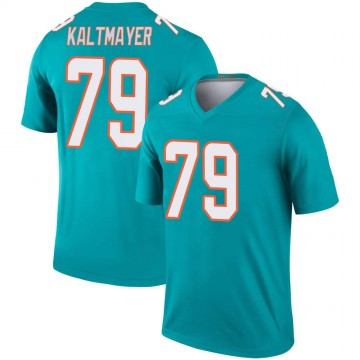 Youth Nike Miami Dolphins Nick Kaltmayer Aqua Jersey - Legend