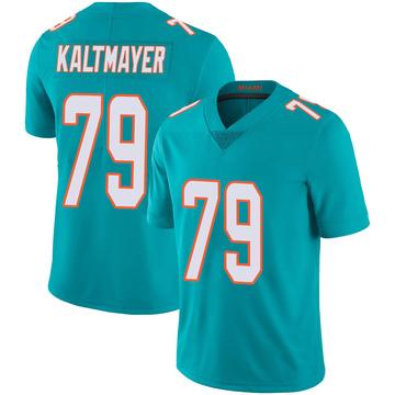 Youth Nike Miami Dolphins Nick Kaltmayer Aqua Team Color 100th Vapor Untouchable Jersey - Limited