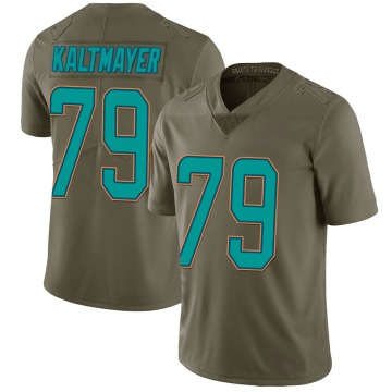 Youth Nike Miami Dolphins Nick Kaltmayer Green 2017 Salute to Service Jersey - Limited