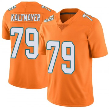 Youth Nike Miami Dolphins Nick Kaltmayer Orange Color Rush Jersey - Limited