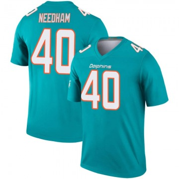 Youth Nike Miami Dolphins Nik Needham Aqua Inverted Jersey - Legend